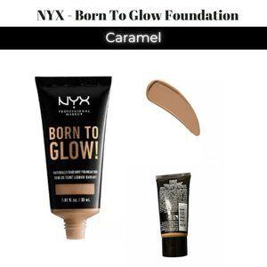💋5/$20 1-NYX Born To Glow Foundation - Caramel